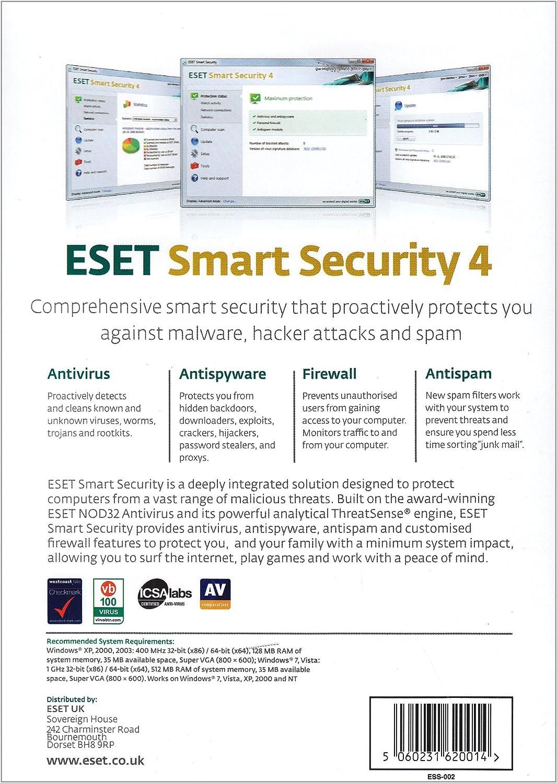 ESET Smart Security - 1 Year, 3 User: Amazon.es: Software