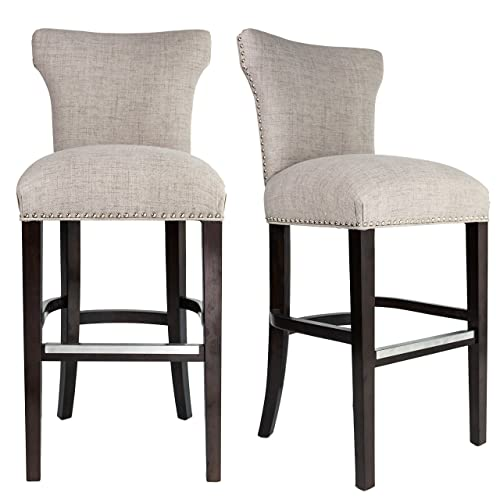 Upholstered Counter Height Bar Stools Fabric Fabric