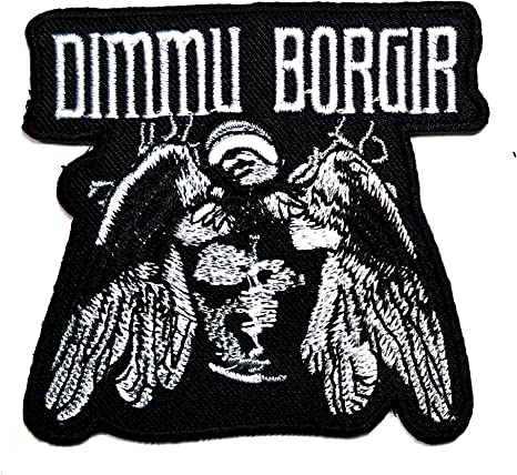 Dimmu Borgir Iron on logotipo música banda Heavy Metal Punk Rock ...