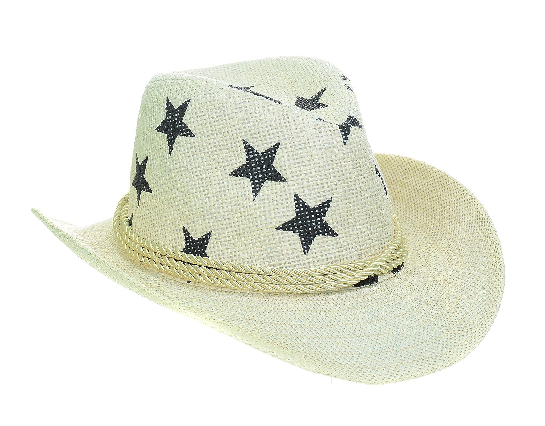 Fourever Funky Palm Trees Stars Navy Beige Drifter Cowboy Hat Unisex