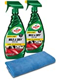 Turtle Wax 50834 1-Step Wax & Dry-26 oz. Double Pack with Microfiber Towel, 52. Fluid_Ounces, 2 Pack