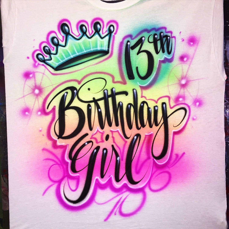 Amazon Airbrush Custom Birthday Girl T Shirt Spray Paint