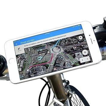 bikephone – magnético Soporte para teléfono móvil de bicicletas &. Co GPS y Strava pantalla