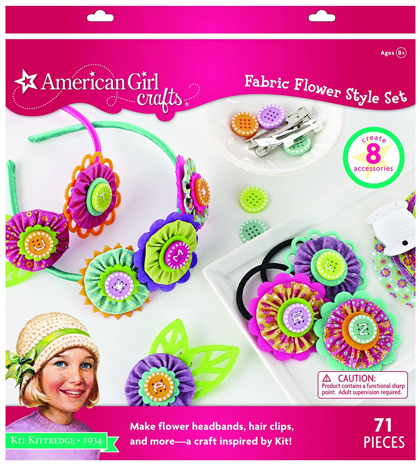 71pc American Girl Crafts Flower Headbands Arts and Crafts for Girls Simplicity Creative Corp 30-662124