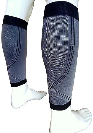 Nuevo y mejorado ACTIVE LINE piernas Running calcetines altos calcetines de compresión graduado funda blanda Shin sujeción férula Protector de Sports ...