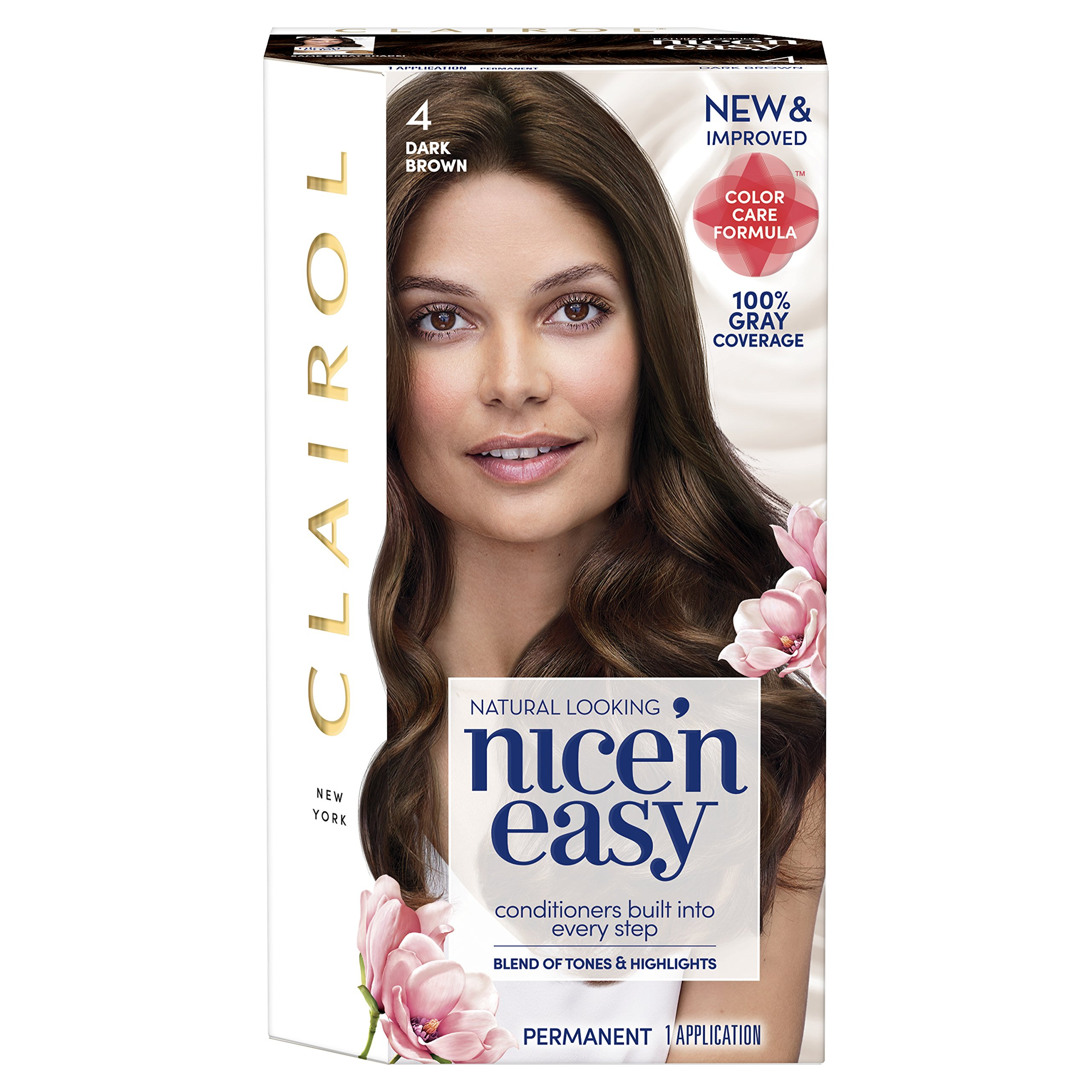 Amazon clairol nice n easy root touch up 4 kit pack of 2 clairol nice n easy hair color 1204 dark brown 1 kit pack nvjuhfo Image collections