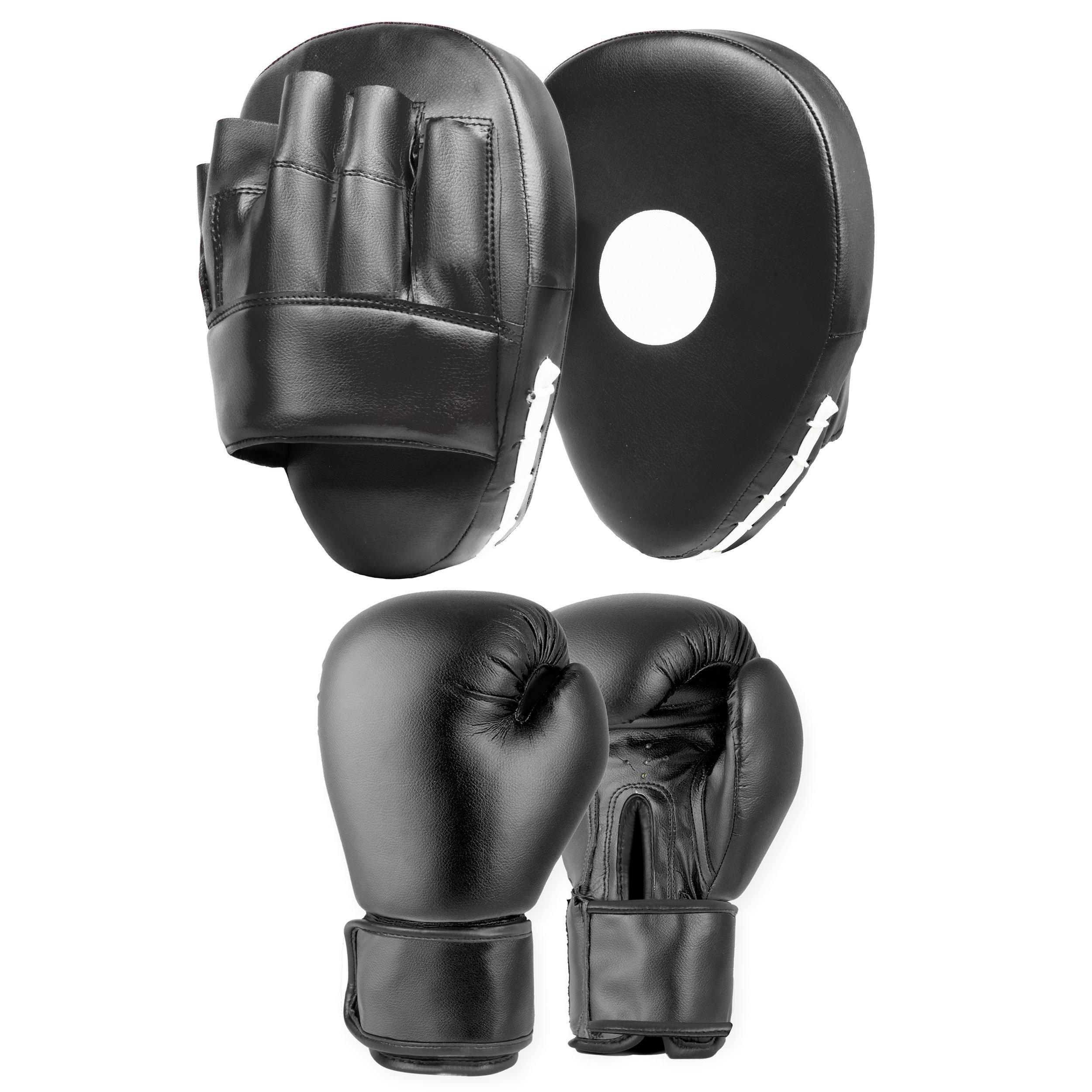 Lions/® Curved Focus Pads and Gloves Hand Wraps Set Hook /& Jabs Punch Bag Mitts Boxing MMA Kick Training