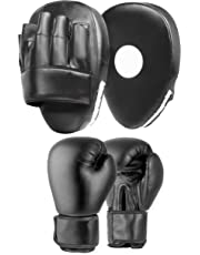 Lions® Focus Pads Jab & Hook Boxing Sparring Punching Gloves MMA Mitts Set