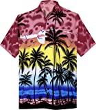 LA LEELA Shirt Casual Button Down Short Sleeve Beach Shirt Men Aloha Pocket 212