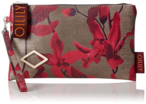 Oilily - Jolly Cosmeticpouch Mhz 4, Carteras de mano Mujer, Rot (Dark Red