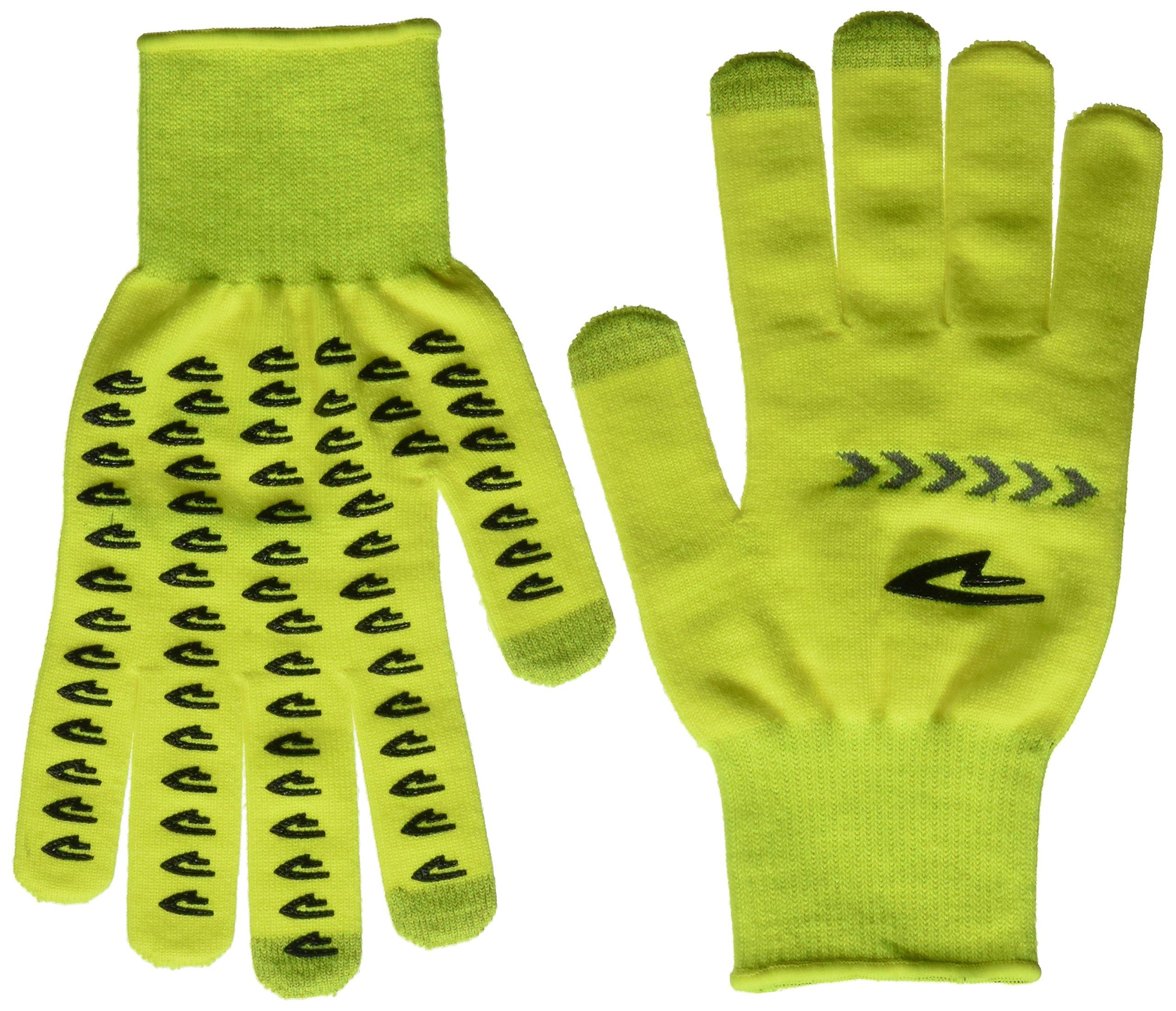 DEFEET Duraglove Reflector Gloves, Hi-Vis Yellow/Reflective Stripe, X-Small