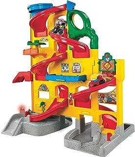 Amazon Com Fisher Price Little People Racin Ramps Garage Toys Games