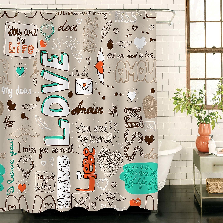 Amazon.com: MitoVilla Bathroom Decor Vintage Taupe Love Letter ...