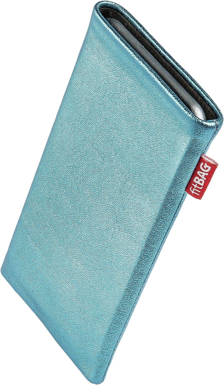 H/ülle mit Reinigungsfunktion fitBAG Beat Cognac Handytasche Tasche aus Echtleder Nappa mit Microfaserinnenfutter f/ür Xiaomi Mi Note 10 Pro Made in Germany
