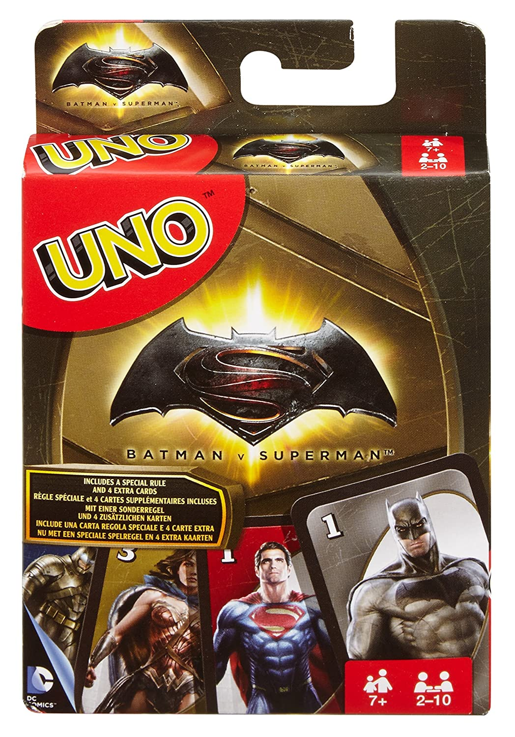 Mattel Spiele DRL58 - UNO Batman v Superman, Kartenspiel: Amazon.de ...