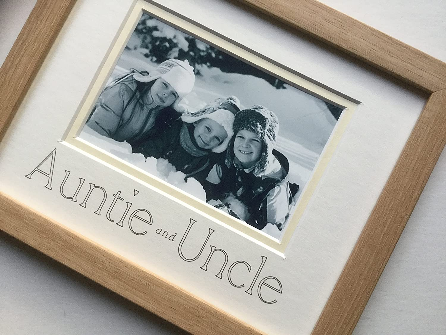 Auntie and Uncle Foto Rahmen 9 x 7 Buche: Amazon.de: Küche & Haushalt