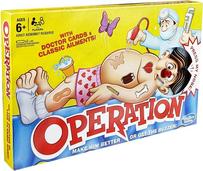 Hasbro - Operación (Juego de Mesa) (versión en inglés): Amazon.es ...