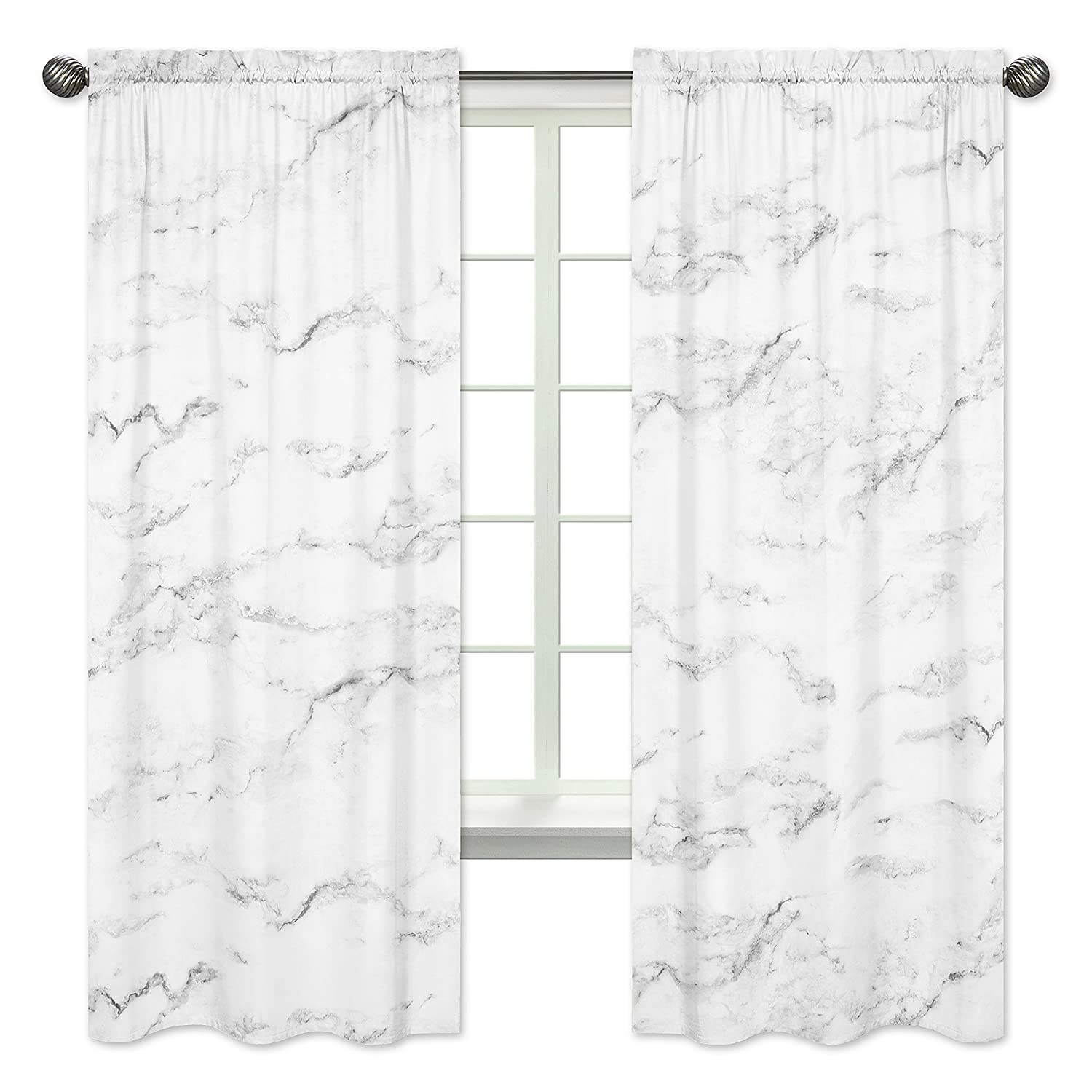 Marble Room Darkening Curtain Slow Fluid Abstract Art Blackout Curtain for Bedroom for Kids Women Adults Traditional Blue Marbling Pattern Thermal Curtain Luxury Blackout Drapes,38 X 45 Inch,2 Panels