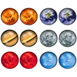 Amazon Price History for:LilMents 6 Pairs Solar System Galaxy Universe Unisex Mens Womens Stainless Steel Stud Earrings