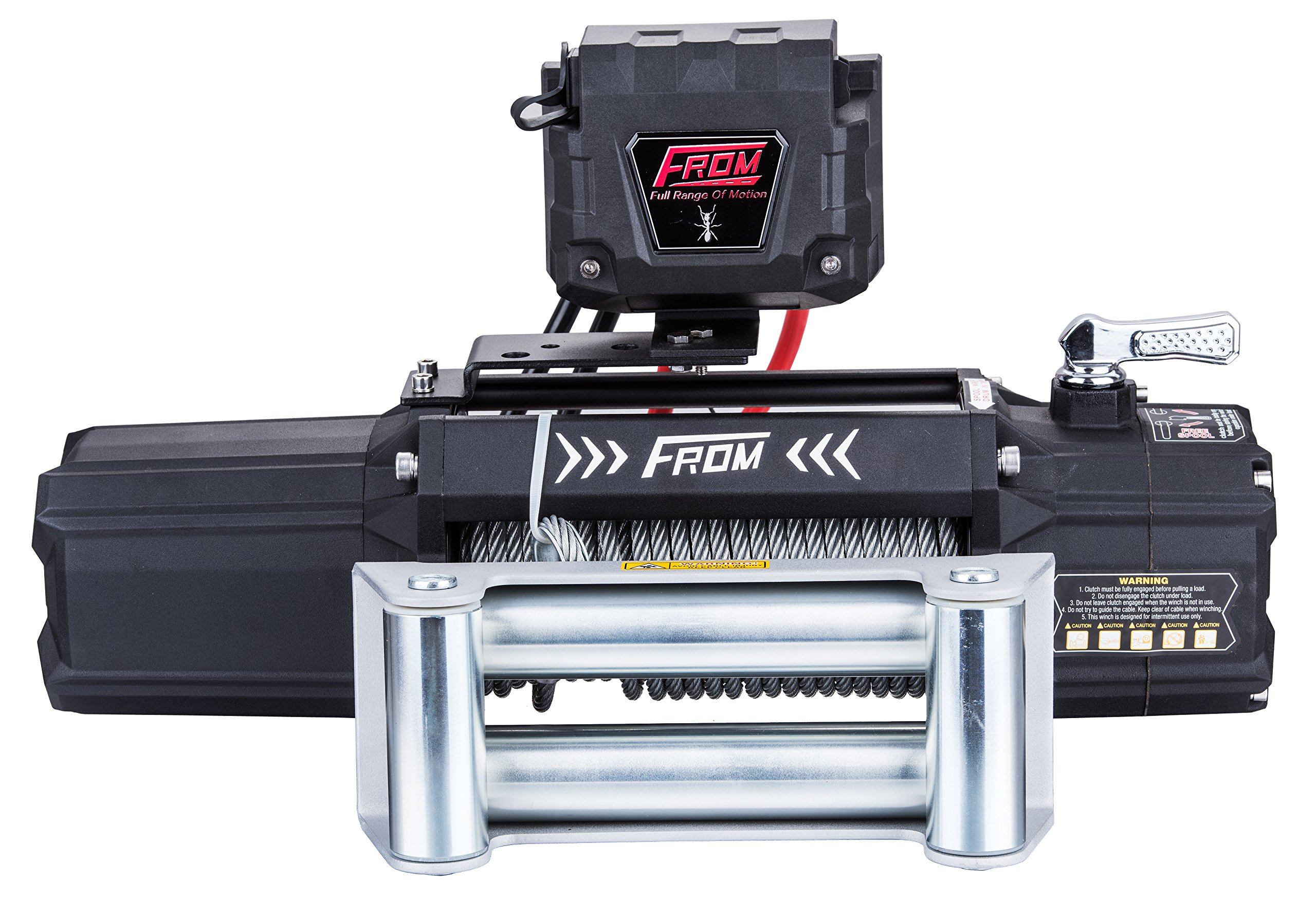 FROM ANT Series Electric Winch 12500lbs 6.0Hp 12V for ATV/UTV/Jeep with Steel Rope FA12.5
