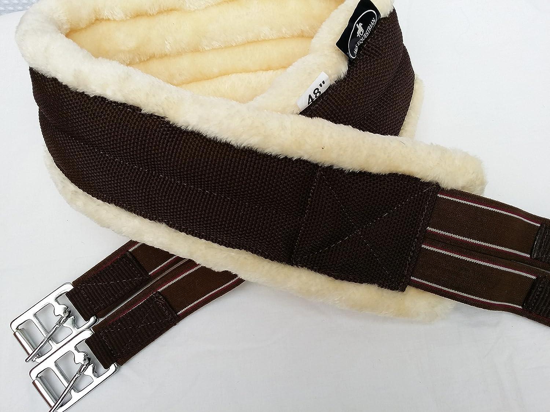 Northern Equestrian Vison/Fourrure synthétique de qualité Supérieure en Nylon Sangle de Crème/Marron, élastique Anneau en D. Tailles en Option