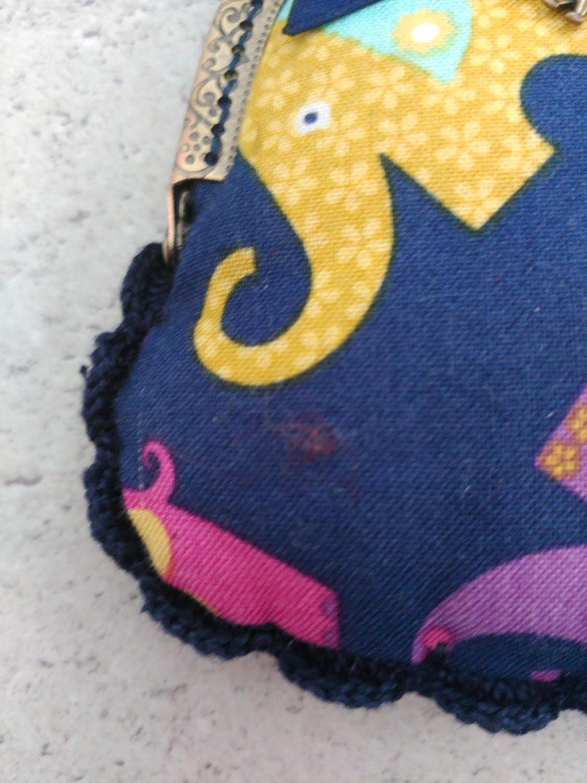 Monedero hecho a mano en tela motivo elefantes: Amazon.es ...