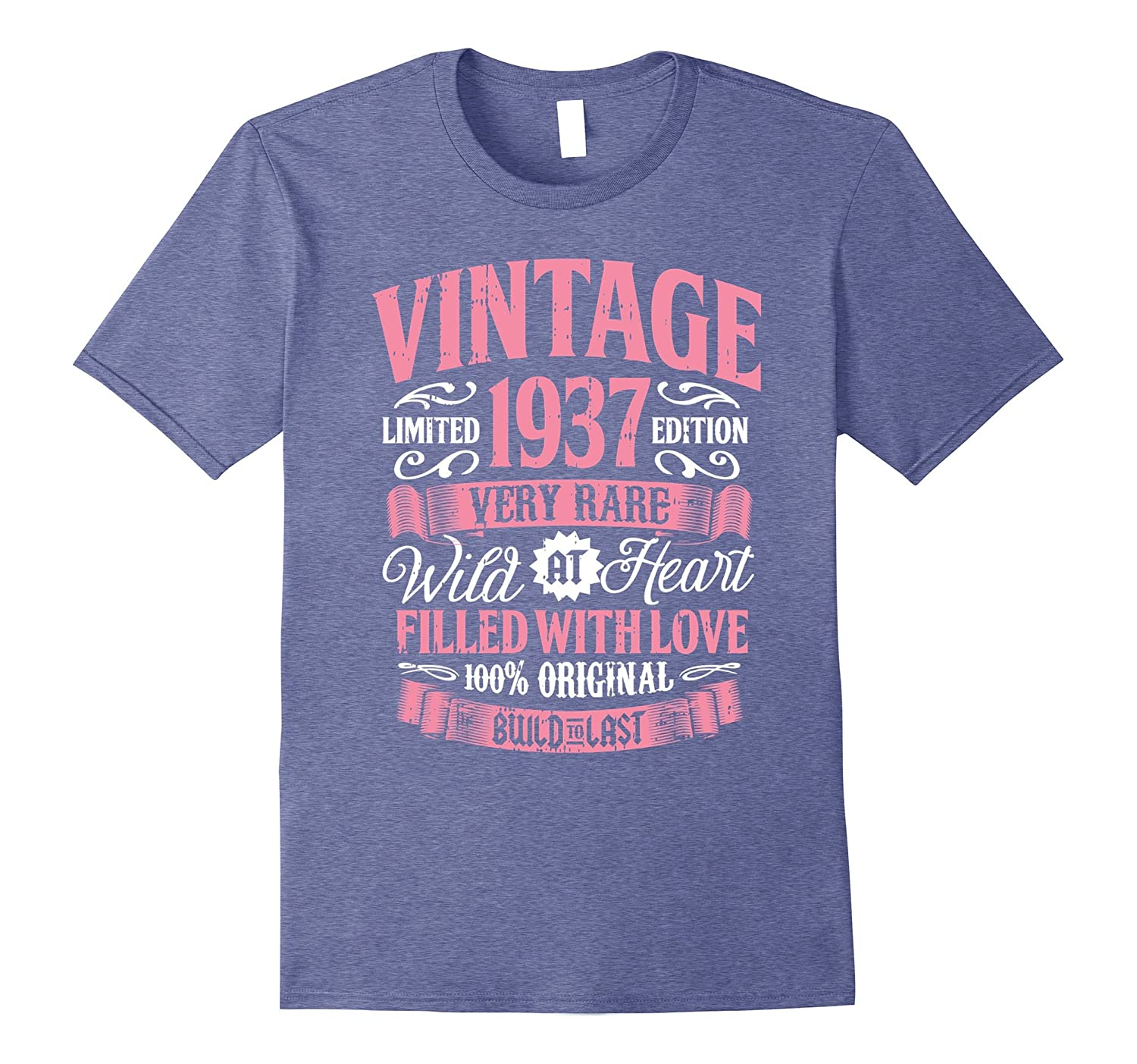 Vintage 1937 80th Birthday Gift 80 Years Old Bday Shirt RT