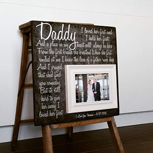 Amazoncom Father Of The Bride Picture Frame I Loved Her First 6x16