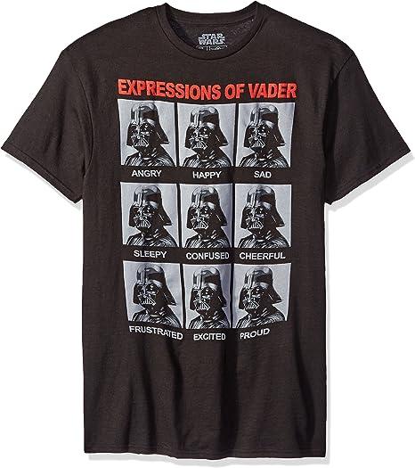 Star Wars Darth Vader Expressions Camiseta Negra para Hombre   XL: Amazon.es: Ropa y accesorios