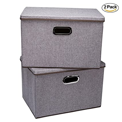 Storage binsWecye Large Foldable Storage Containers with Removable Lid and HandlesStorage box  sc 1 st  Amazon.com & Amazon.com: Storage binsWecye Large Foldable Storage Containers ...