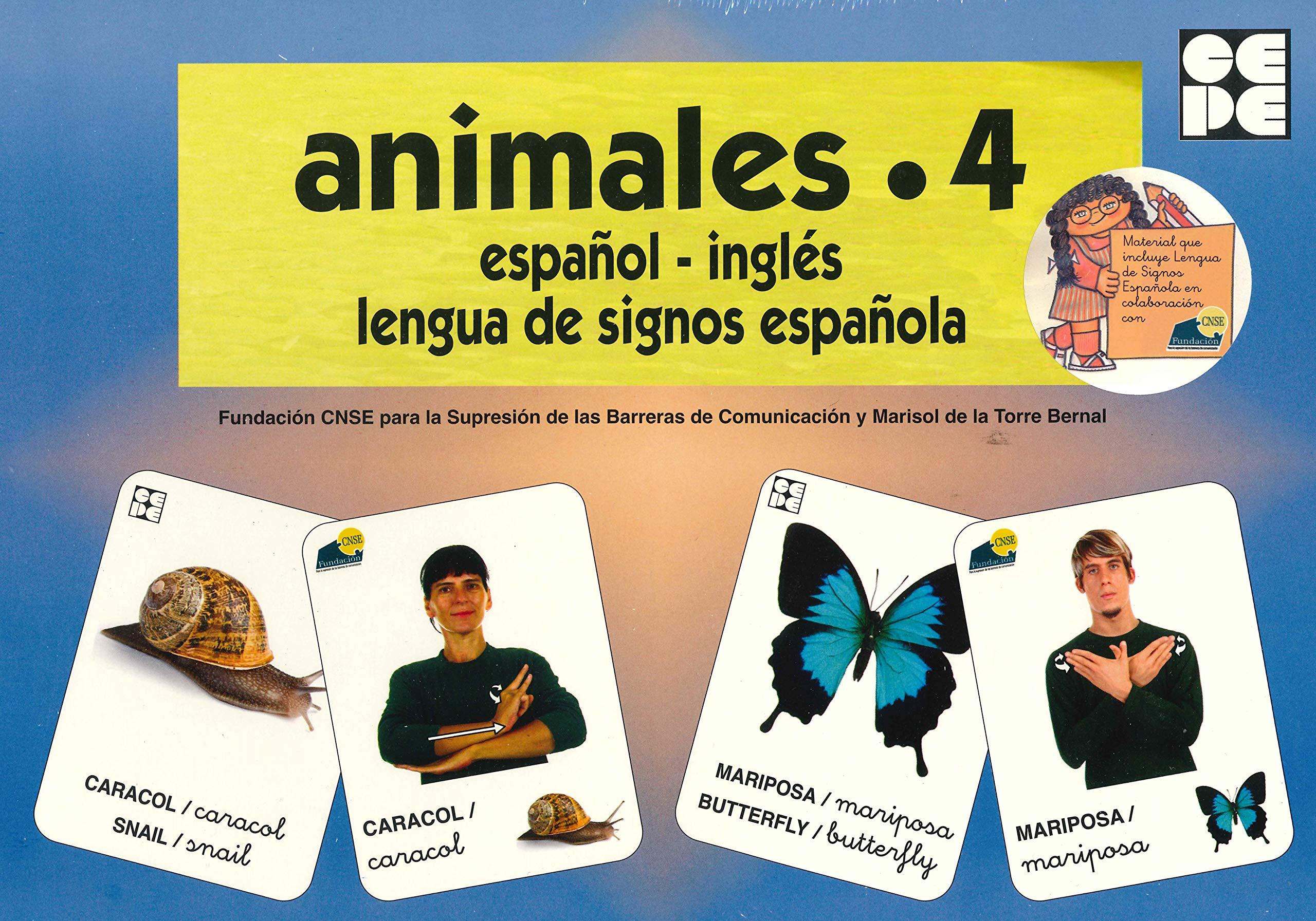 Vocabulario fotográfico elemental - Animales 4 insectos Vocabulario fotográfico elemental español,inglés,lengua de signos española: Amazon.es: CNSE, Fundación, de la Torre Bernal, Marisol: Libros