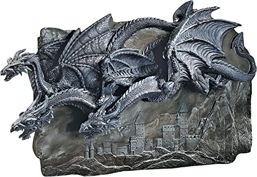 Design Toscano Morgoth Castle Dragons Wall Sculpture