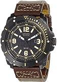 Citizen Eco-Drive Men's Black & Brown WDR 4.0 Chronograph Watch