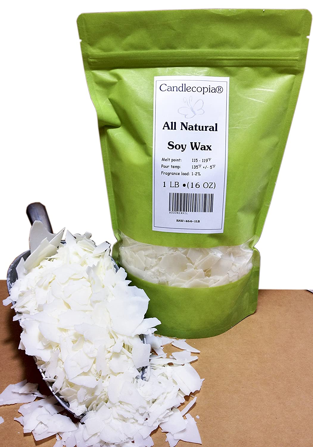 Candlecopia All Natural Soy 464 Candle Making Wax - 1 pound bag RAW-464-1LB