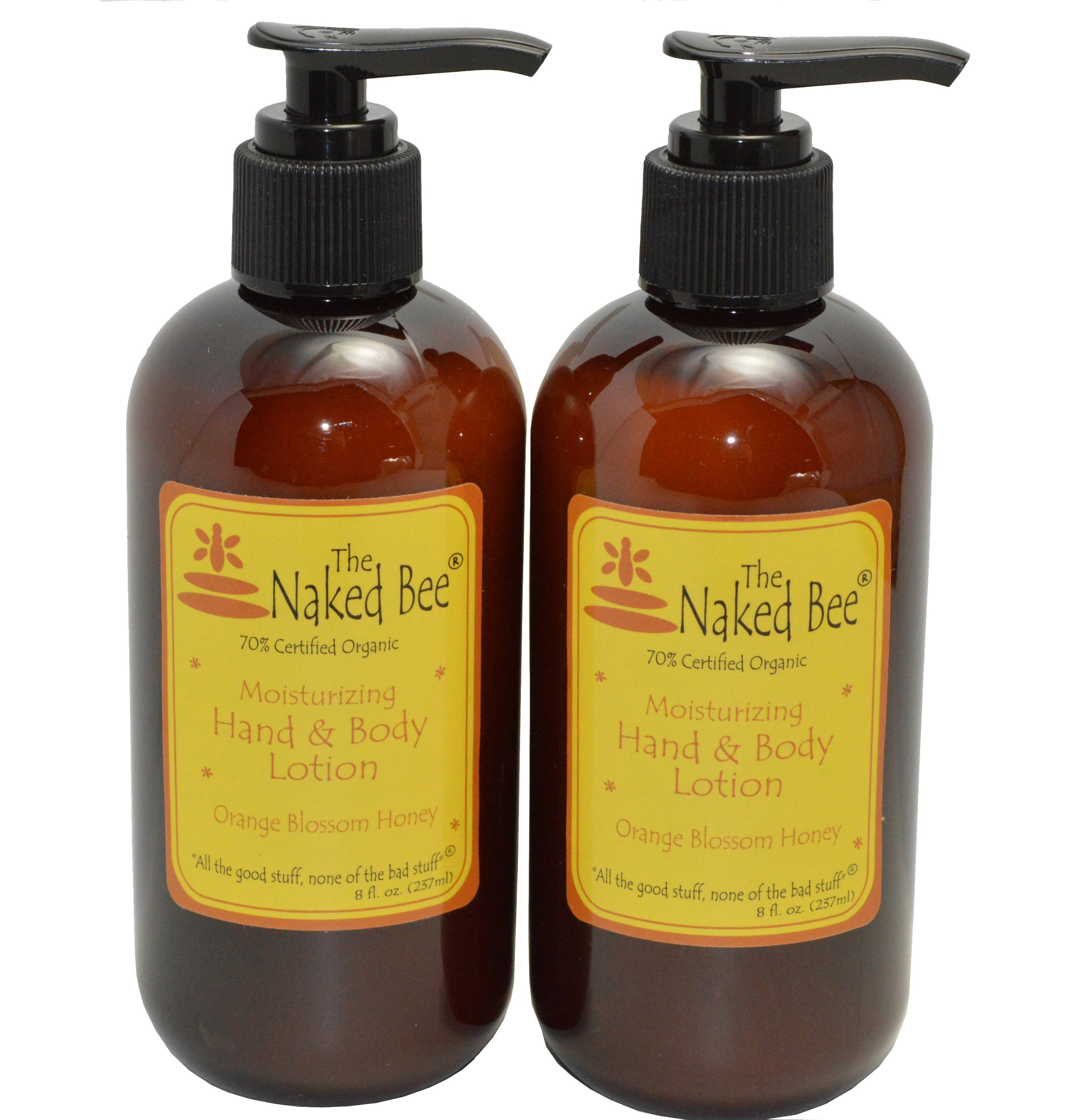 The Naked Bee Orange Blossom Honey Hand & Body Lotion, 8 oz, 2 Pack by The Naked Bee (Image #1)