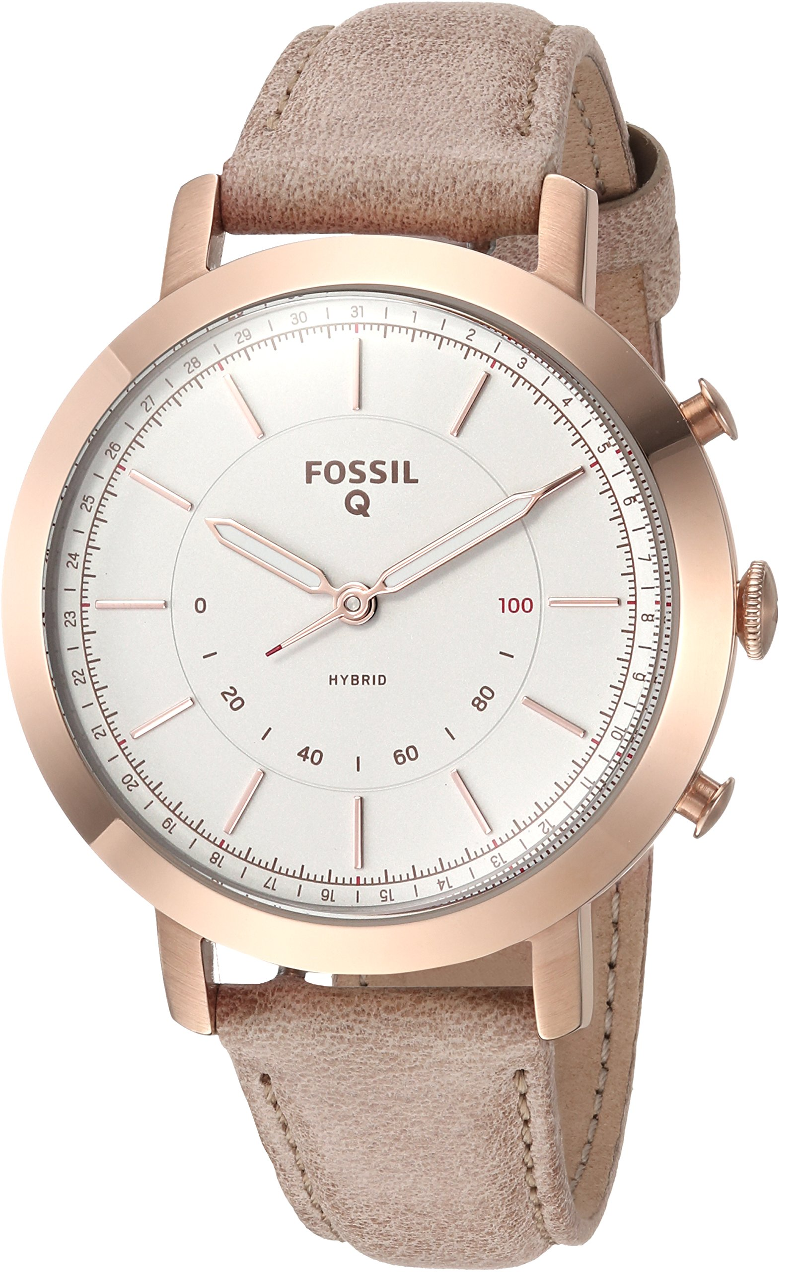 Fossil Hybrid Smartwatch - Q Neely Bone Leather FTW5007