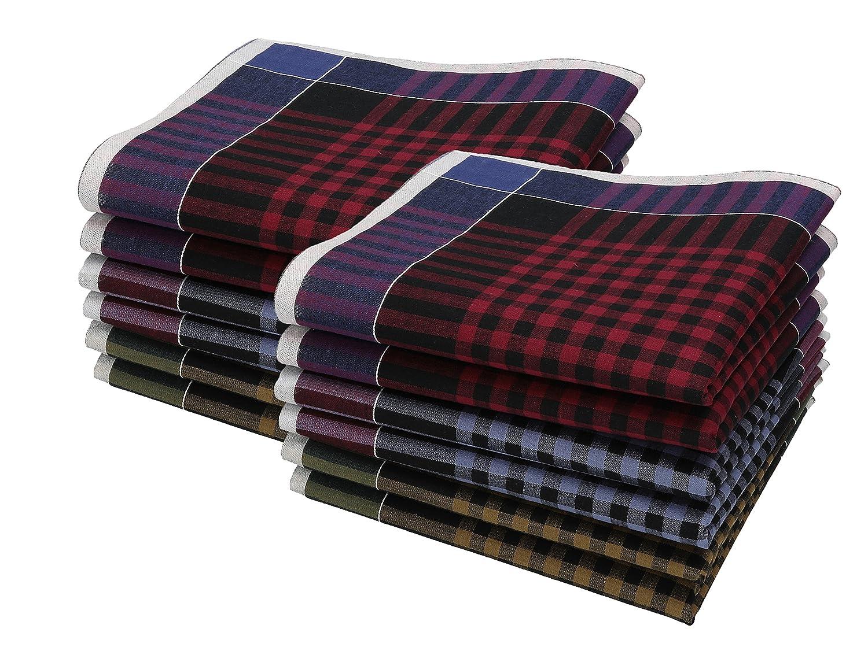 Betz Herren Stoff Taschentücher Set Leo 2 Dessin 06 100% Baumwolle Größe 40x40 cm