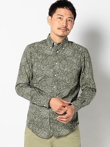 Bandana Print Buttondown Shirt 111-14-0272: Green