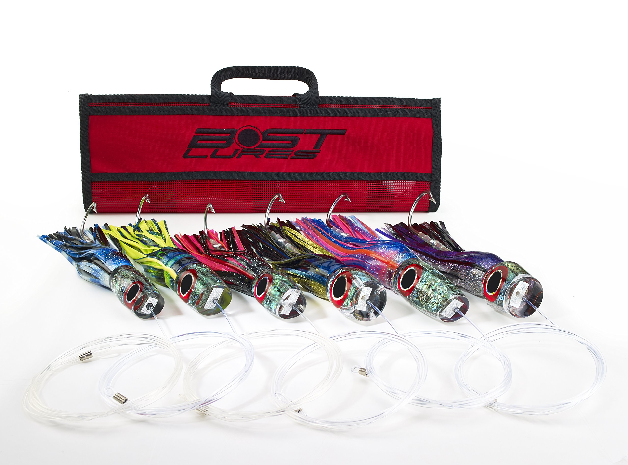Large Marlin Lure Pack by Bost - Rigged w/Double Hooks by Bost Lures