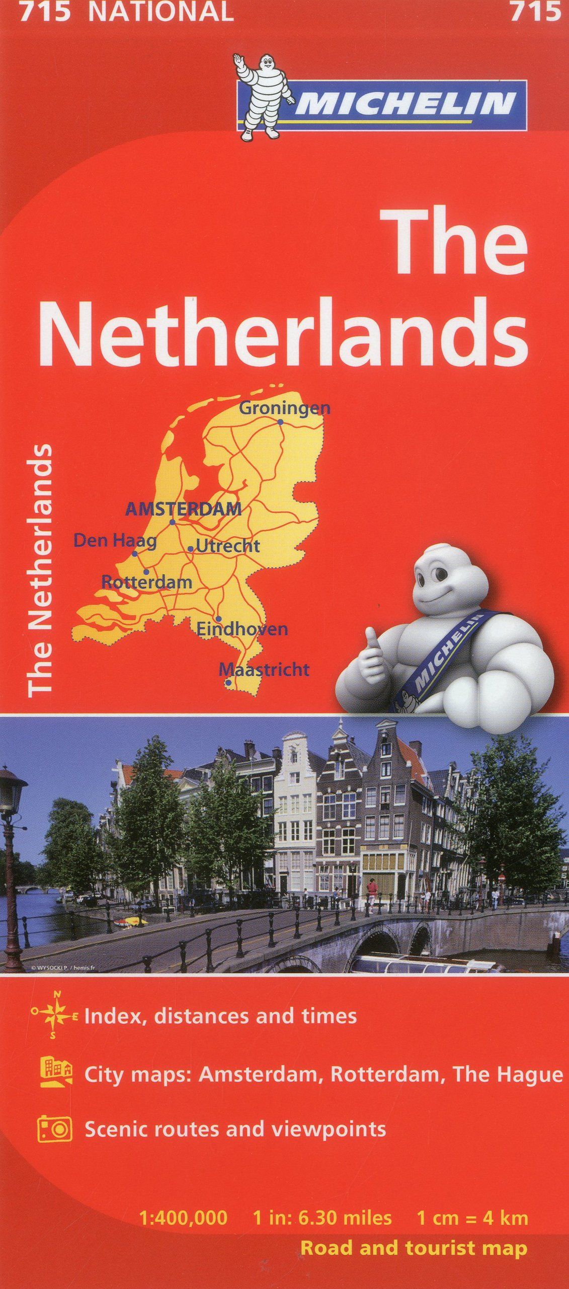 Michelin Netherlands Map 715 (Maps/Country (Michelin ...