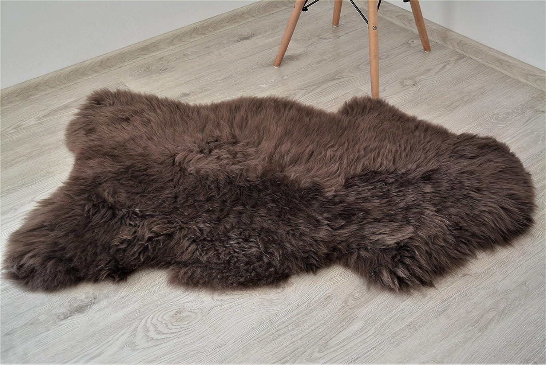 Meryno Chocolate Sheepskin rug light brown natural genuine small