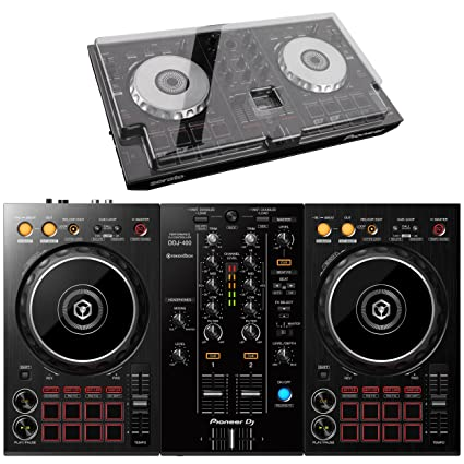 Amazon.com  Pioneer DDJ-400 DJ Controller (with Decksaver cover)  Musical  Instruments 84ab009d01