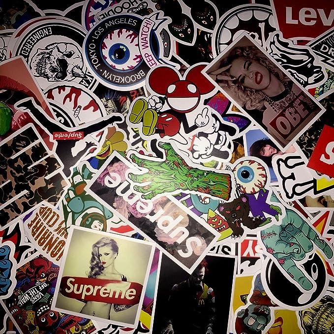 Amazon com not random100 piece skateboard stickers vintage vinyl laptop luggage decals dope sticker mix lot home kitchen