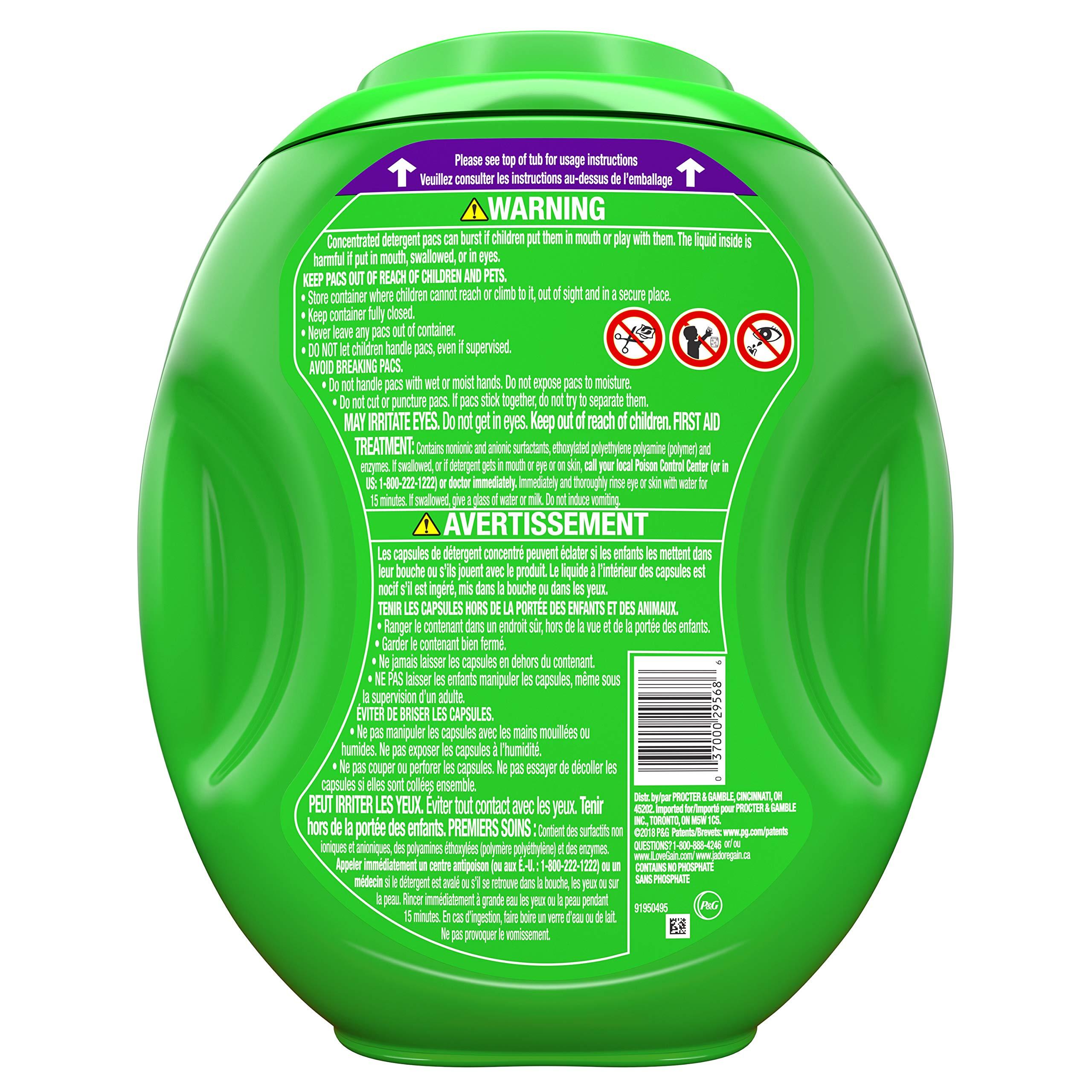 Gain Flings! Liquid Laundry Detergent Pacs, Moonlight Breeze, 96 Count by Gain (Image #2)