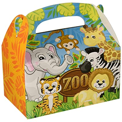 Adventure Planet 6.25-inch Zoo Animal Treat Boxes (Bulk 12 Pack Boxes): Toys & Games