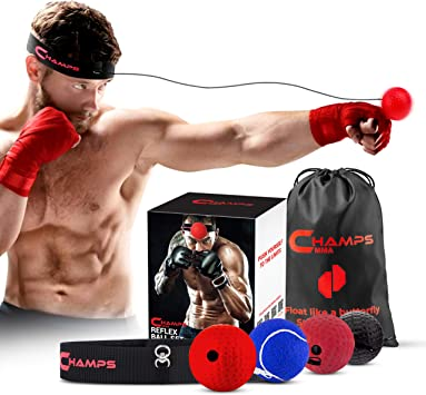 Boxing Reflex Speed Punch Ball Training Hand Eye Coordination Muay Thai Exerji