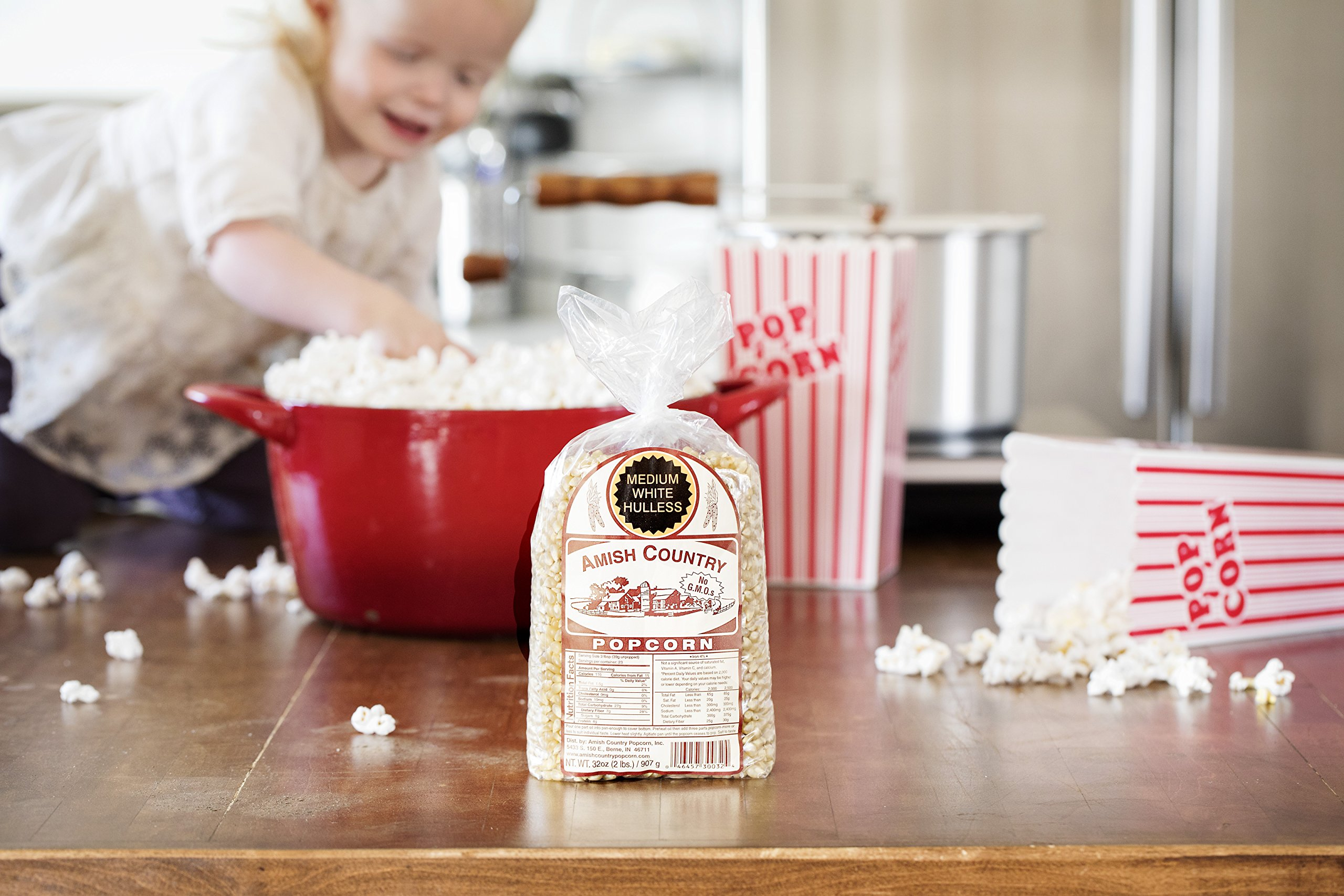Amish Country Popcorn - Medium White Popcorn (2 Pound Bag) Old Fashioned, Non GMO, and Gluten Free - with Recipe Guide by Amish Country Popcorn (Image #6)