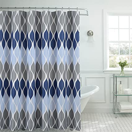 Amazon Com Clarisse Faux Linen Textured 70 X 72 In Shower
