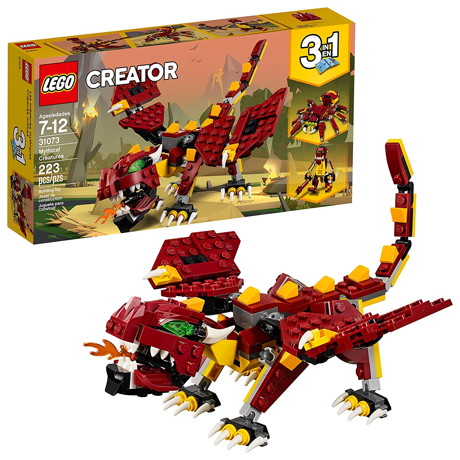 LEGO Creator 6213403 Mythical Creatures 31073 Building Kit (223 Piece)