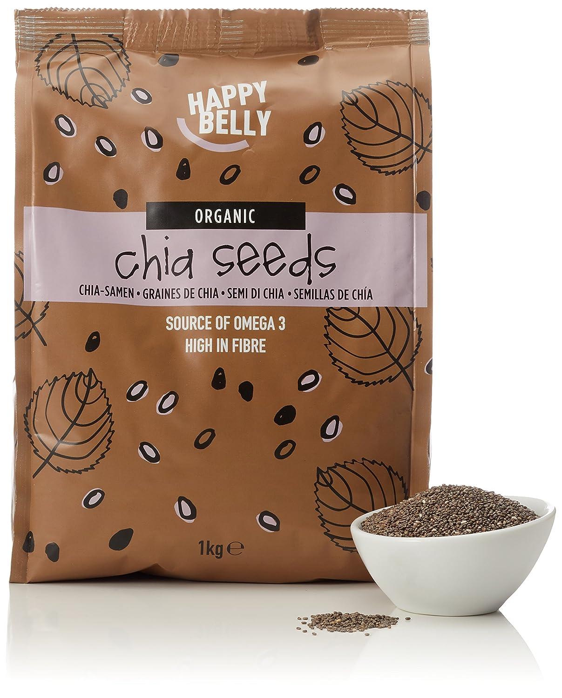 Marca Amazon - Happy Belly Semillas de chía orgánica, 1000 g: Amazon.es: Alimentación y bebidas